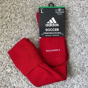 🆕 Adidas Red Formation Elite Soccer Socks